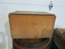 Vintage Wooden Wood Baltimore Fish Co. Red White Yellow Sliced Peaches Crate