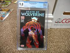 Death of Wolverine 1 cgc 9.8 cool Holofoil cover White pgs Marvel 2014 Mint Whit