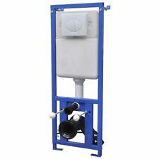 vidaXL Cisterna Alta Oculta Descarga Doble para Inodoros WC Váter de Pared