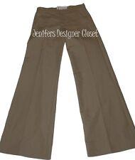 NWT MARNI runway slacks 38 pants $705 trousers flare legs career tan flat front