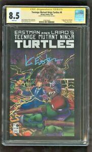 CGC 8.5 TEENAGE MUTANT NINJA TURTLES #9 MIRAGE STUDIO 1986 SIGNED KEVIN EASTMAN