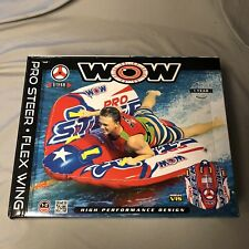 Wow Pro Steer Flex Wing Inflatable Towable Tube 1-2 Riders New Free Shipping