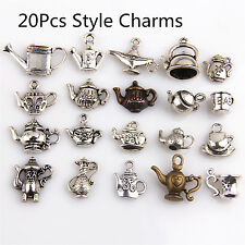20Pcs Mixed Tea Pot  Charms Pendants Tibetan Silver For Necklace Bracelet