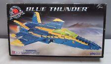 Blue Thunder Mega Block Set 690 Pieces Jet Air Force Military Lego