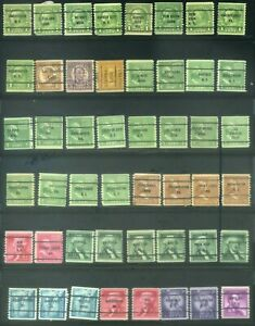 48 Piece US Precancel Coil Singles Collection TEN00