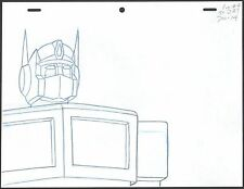 Transformers Optimus Production Animation Cel layout drawing Marvel 1984-7 2*