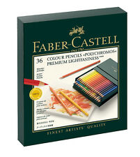 #110038 boîte cadeau de 36 faber-castell polychromos artists 'art couleur crayons neuf