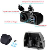 Dual USB Car SUV Charger Zigarettenanzünder Steckdose + Wasserdichte Abdeckung