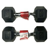 (2) 10 lb Weider Dumbbells Rubber Hex Knurled Grip. 20 lbs. Total. FAST SHIPPING