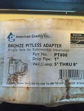 "One (1) 1"" Bronze Pitless Adaptor- American Granby, Inc."