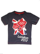Next Boy`s Olympic London Short Sleeve Top Grey Size 4 years