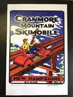 Mt. Cranmore Skimobile North Conway New Hampshire Ski Poster Signed by NH Artist
