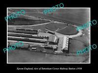 OLD LARGE HISTORIC PHOTO OF EPSOM ENGLAND, TATTENHAM RAILWAY STATION c1930