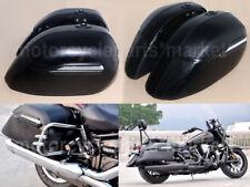 Black Universal Hard Saddle Bag Trunk Case Box for Yamaha Suzuki Kawasaki Honda