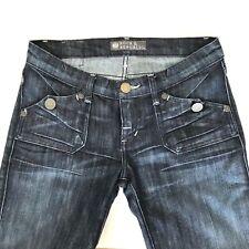 Rock & Republic Jeans Sz 26 x 36 Siouxsie Flap Pocket Stretch Blue Pants