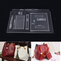 8Pcs Leather Craft Acrylic Shoulder Bag Pattern Stencil Templates For