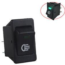 12V Car Fog Light Rocker Toggle Switch Green LED Light Dash Dashboard 4Pin Sales