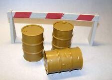1:18 Hasbro Indiana Jones Road Blocker and three Fuel Drums for Diorama