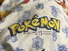 Pokemon Twin Sheet Set Vintage 1998 Fitted Flat Curtain Pikachu Crafting Fabric