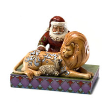 Enesco Jim Shore Heartwood Creek from Santa with Lion and Lamb Figurine 5.25 In