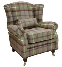 Ashley Wing Chair Fireside High Back Armchair Balmoral Heather Check PS