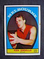 SCANLENS 1968A VFL CARD #29 KEN EMSELLE (MELBOURNE) NM