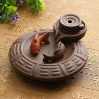 Fish Porcelain Backflow Ceramic Incense Burner Smoke Cone Holder Buddhist