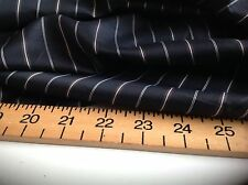 NEW BLACK WITH MULTI COLOUR STRIPE VISCOSE LINING FABRIC SEW Cloth Sleeves Suit