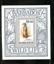 Barbados Souvenir Sheet Mongoose MNH