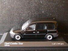 OPEL COMBO TOUR 2002 VITRE BLACK MINICHAMPS 400042001 1/43 LEFT HAND DRIVE NOIR