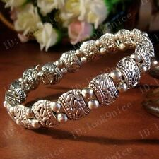 Hot! Handmade Fashion Tibet Chanceux Totem Tibetan Silver Bracelet Bangle A295