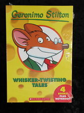 GERONIMO STILTON WHISKER-TWISTING TALES NEW & SEALED 5 BOOKS NOTEBOOK TREASURE