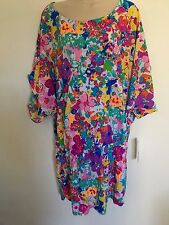 Anne Cole Tunic Cover Up Flowers Large/XLarge pockets
