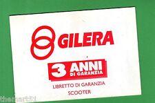 GILERA  - Libretto di Garanzia 3 Anni Scooter  - 1993