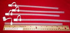 "5 New 11"" Clear Flex Straws Plastic Reusable Flexible Round Resealable  w/Cap"