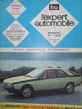 Revue technique RENAULT FUEGO TX GTX AUTOMATIC RTA EXPERT 190 1982 + ALPINE A310