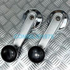 Datsun 120y B210 window door handle crank chrome black 2 PCS