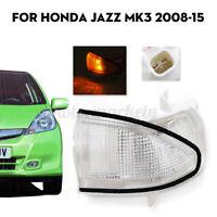 Right Driver Door Wing Mirror Indicator Light Clear For Honda Jazz Mk3 2008-2015