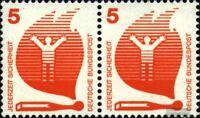 BRD (BR.Deutschland) 694A waagerechtes Paar postfrisch 1971 Unfallverhütung
