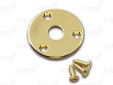 Aftermarket Gibson Flyin' V ® round jack plate HJ008, Gold with screws