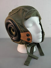 GENTEX NYLON LEATHER PILOT HELMET LINER 40's KOREAN WAR USN U.S.N. CAP MILITARY