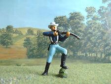 Cherilea Wild west American cavalry trooper standing firing 60mm painted