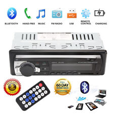 Car Stereo Audio Bluetooth 1DIN In-Dash FM Aux Input Receiver SD USB MP3 Radio Y