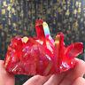 Natür Rot Kristall Quartz Cluster Juwel Stein Reiki Heilung Mineral Probe Sammel