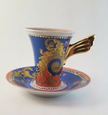 Rosenthal Tall Cup and Saucer - Versace Primavera Pattern