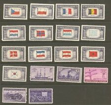 US 1944 Commemorative Year Set with Overrun Countries 909 - 926 MNH