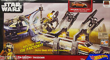 Hot Wheels Star Wars Tie Factory Takedown Exclusive Vehicle Included by Mattel