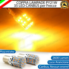 COPPIA LAMPADE PY21W BAU15S CANBUS 3.0 35 LED ARANCIONI ARANCIONE PER FRECCE
