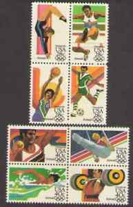 US. C101-4, C105-8. Los Angeles Summer Olympics 1984. Lot of 2. MNH. 1983