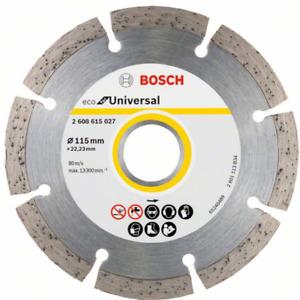 Bosch Diamond Cutting Disc For Grinder , Stone Rock Brick 115 mm x 22.23 Bore
